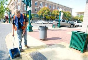 United Cerebral Palsy workers will continue cleaning up School Street.