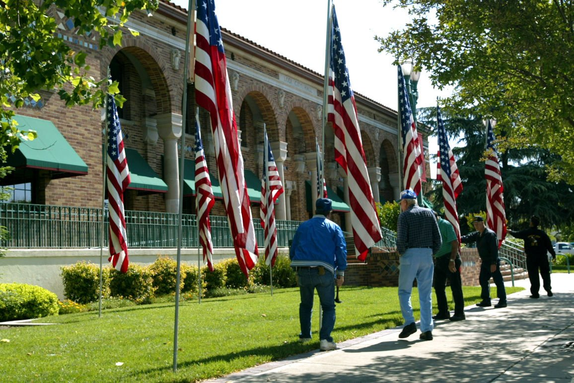 Dedication of the All Veterans Plaza in Downtown Lodi
