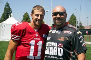 Love of San Francisco 49ers, race cars converge