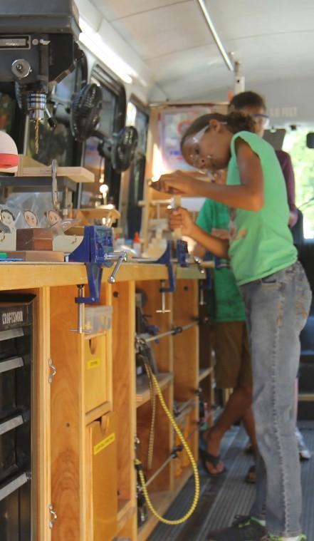 Galt's Stephen Willner uses bus to teach woodshop