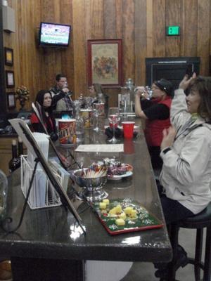 Sorelle Winery's Kim Scott in the tasting room