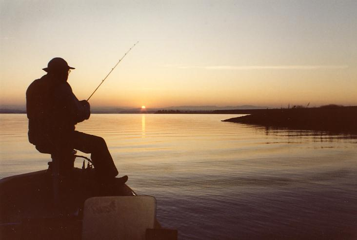 My fishing partner, Art.