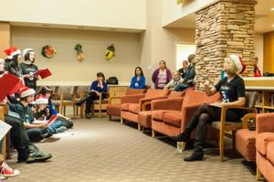 Carolers usher in Christmas at Lodi Memorial Hospital
