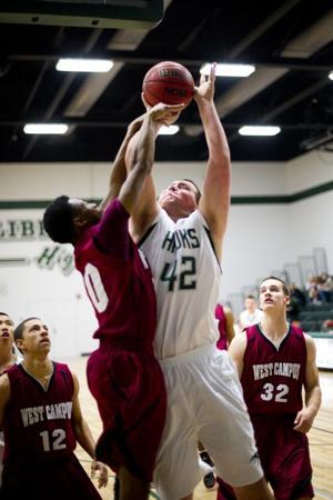 Liberty Ranch defeats West Campus in varsity boys basketball