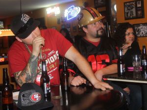San Francisco 49ers fans' emotions went up and down during Super Bowl