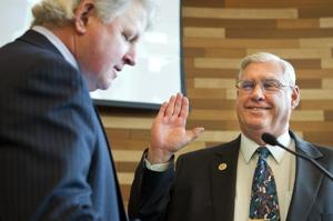 Packed crowd comes to see Ken Vogel, Larry Ruhstaller sworn in as supervisors