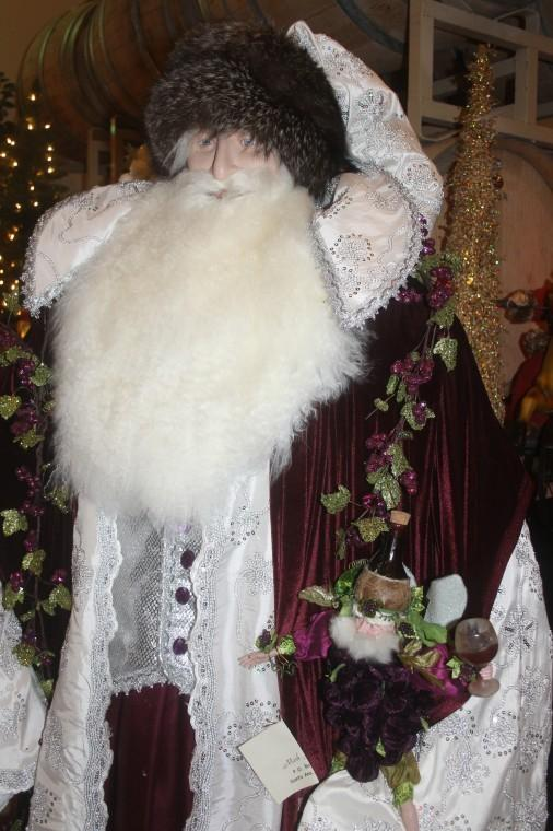 Berghold Winery offers decorations of 6-foot-tall Father Christmas figures