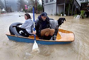 More heavy rain washes across California