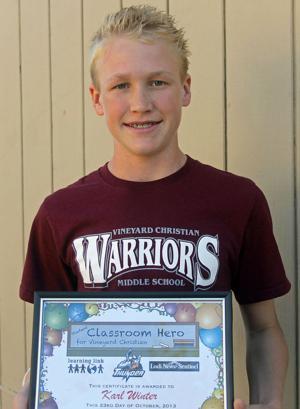 Vineyard Christian Middle School Classroom Heroes
