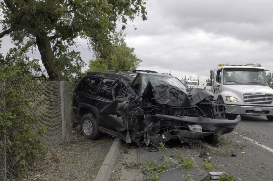 Driver injured in crash on Highway 99