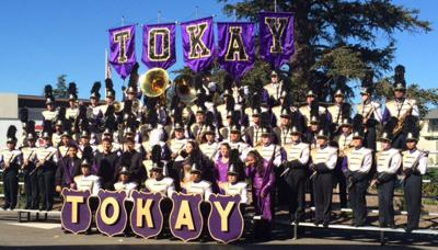 Tokay High School Tiger Marching Band attends band review in Napa