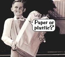 paper or plastic kid