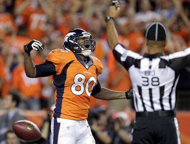 Former Tokay Tigers star Thomas catches two touchdowns as Broncos rout Ravens