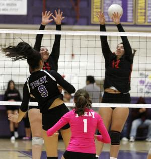 High school volleyball: Tigers bounce back vs. Flames