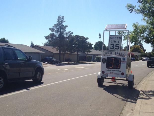 Radar trailers monitor speeds on Lodi streets