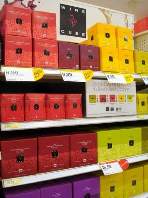 A Wall of Wine Cubes at Target
