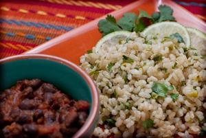 Jazz up brown rice with a lime cilantro taste