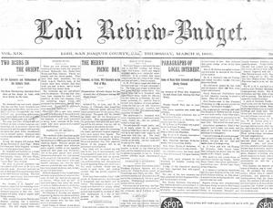 Budget-Review provides glimpse of Lodi in March 1896