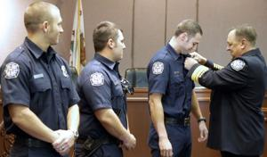 Lodi Fire Department promotes four firefighters