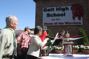 Galt High School unveils new sign to commemorate 100th anniversary