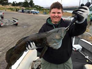 Colby Pickett goes fishing at Bodega Bay