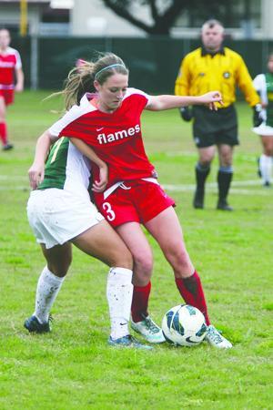 Girls soccer: Flames edge Yellowjackets