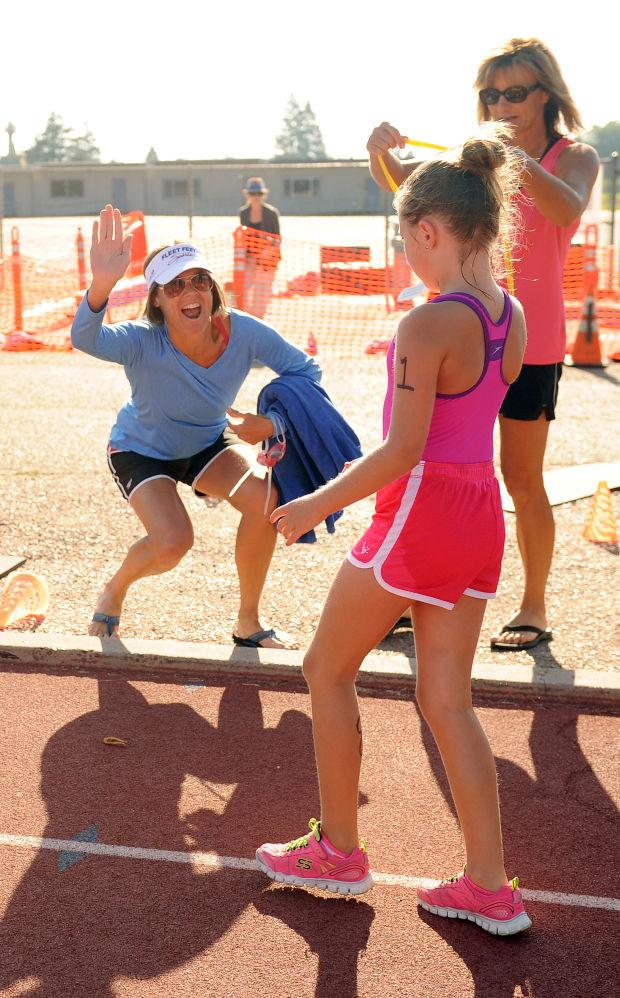 Splash and Dash pool and track race