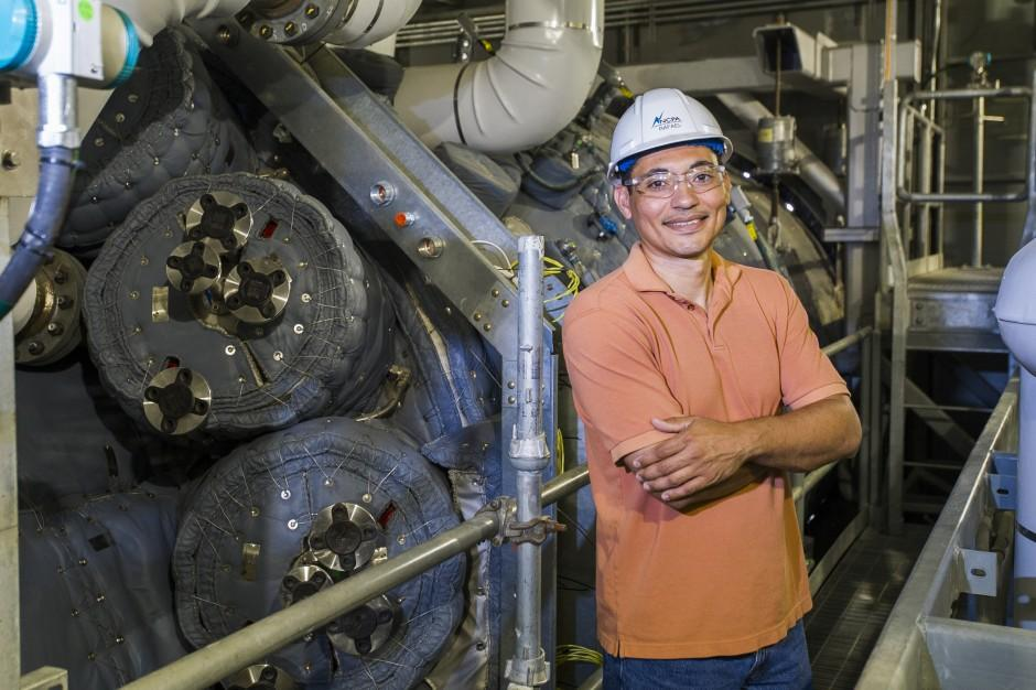 Operations and maintenance supervisor Rafael Santana focuses on getting the details right