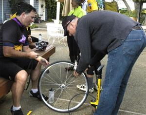 Bikers enjoy a relaxing day of cycling, visiting wineries