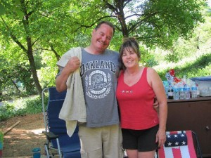 Suspect In Galt Shooting, Standoff Remains In Hospital: Roy Marcum stands with his wife, Tina. Marcum, 43, a Sacramento County animal control officer, was killed in Galt on Wednes-day. He leaves behind his wife and four children. Joseph Corey, the suspect in Marcum's killing, remains hospitalized but will likely be arraigned next week.  - Courtesy photograph