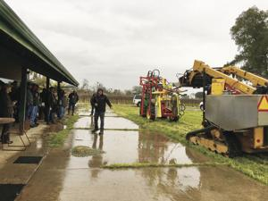 Lodi winery brings new pruning machines to the field