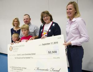 Local farmer donates $2,500 to Larson Elementary
