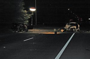 Two injured in collision on Hutchins Street