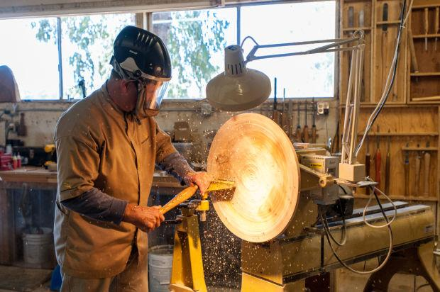 Wood turner Doug Quetin creates dishes out of discarded pieces