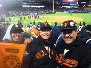 Lodi friends celebrate Giants' World Series win in Detroit