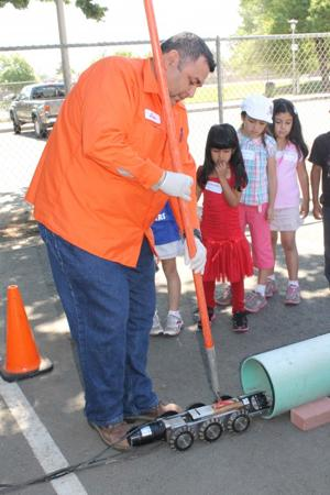 Nichols Elementary School students visit city of Lodi Public Works
