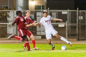 Isaac Martinez a marksman for Galt Warriors varsity boys soccer team