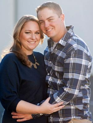 Chris Johnson, Erin Crivelli engaged at the top of Coit Tower in San Francisco
