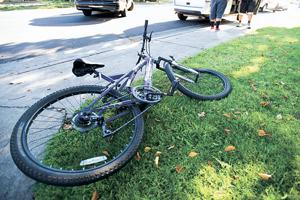 Cyclist seriously injured in vehicle accident