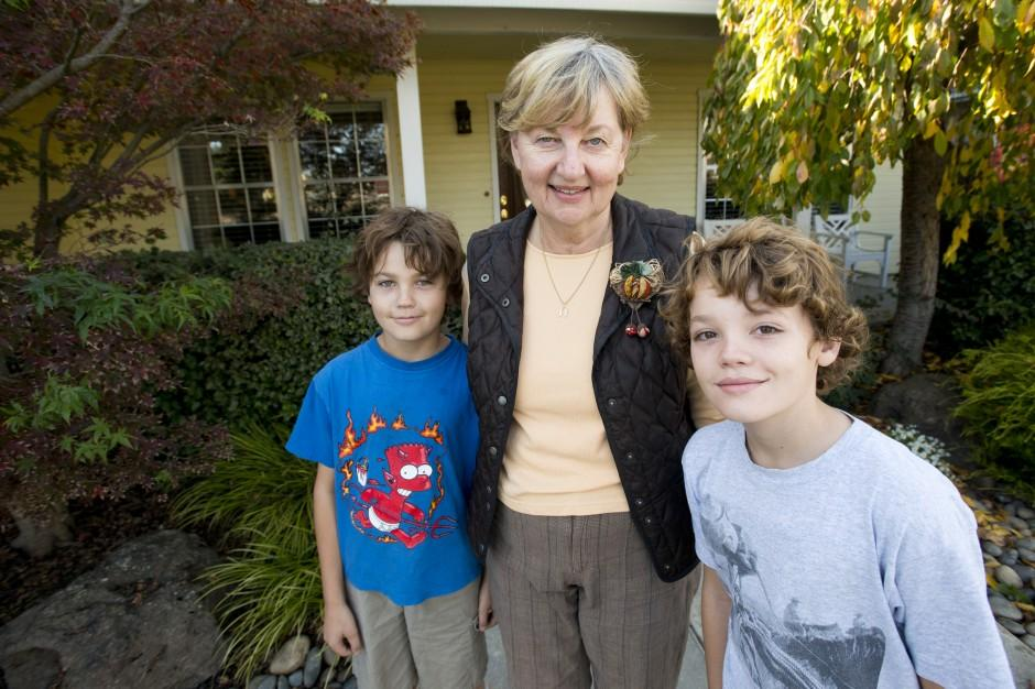 Woman happy to have grandkids visiting America