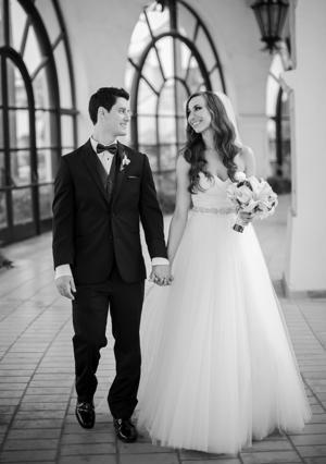 Ryan Robbins and Lori Brandt were married in at Fess Parker Resort in Santa Barbara