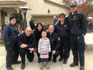 Lodi boy gives coffee with cops a Christmas twist