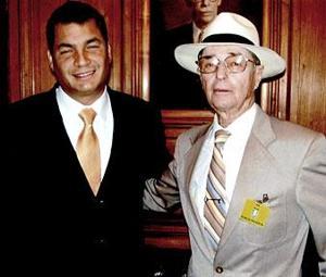 Lodi's Byng Forsberg meets president of Ecuador