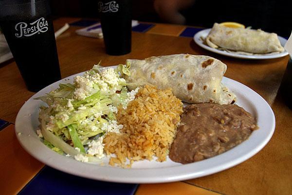 Menudo, chili verde, cactus at authentic Mexican restaurant