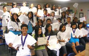 Morada Middle School students win big at Academic Pentathlon
