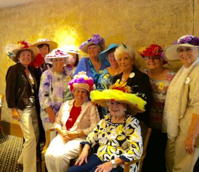 Widowed Persons of California holds spring hat parade