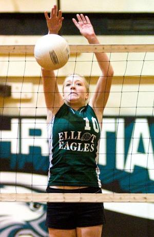 Elliot sweeps past Tioga in first round of volleyball playoffs