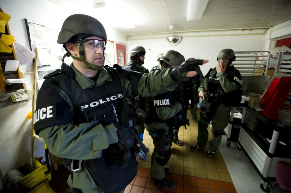 Area SWAT teams use Lodi High School campus for practice