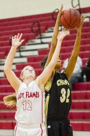 Girls basketball: Flames fade in second half
