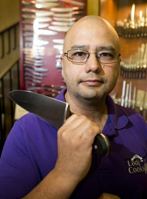 Lodi Cooks owner Meyer Puzon provides knife skills tips